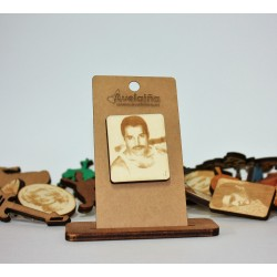 Broche rectangular Freddie...